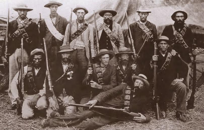 Foto de guerrilleros Boers en la guerra Anglo-Bóers