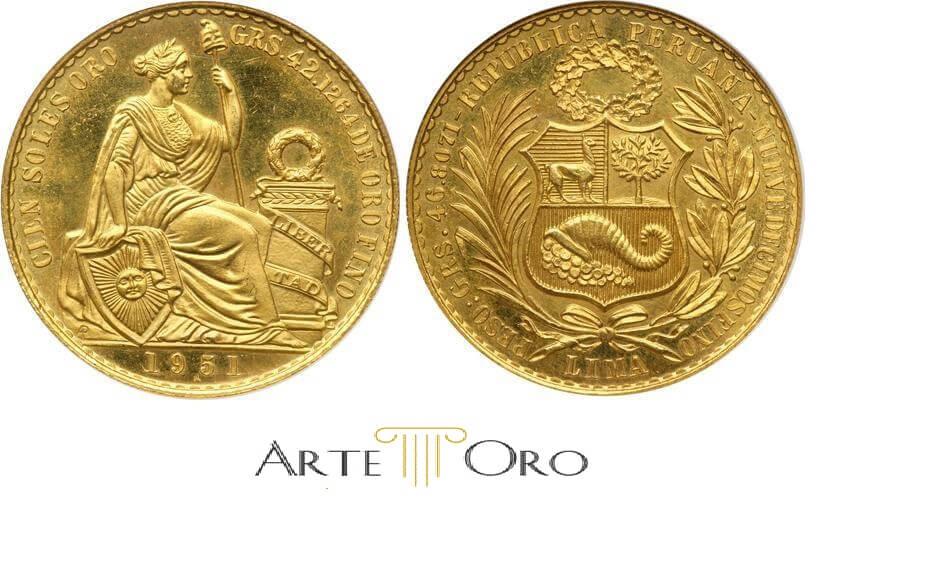post sobre la moneda Sol de oro de Perú