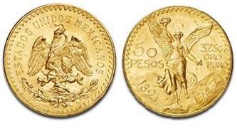 50 pesos mexicanos para venta de monedas de oro
