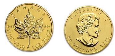 Mapple de oro de Canadá, para venta de monedas